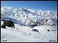 اولین برف پاییزی در ارتفاعات البرز از قوشخانه بسمت لواسانات و گردنه گله سرداب و افجه در لار First snow on the Alborz Mountains at Lar National P - panoramio.jpg