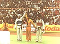 سامر كمال ، لحظة فوزه في إحدى المباريات بآسياد 1986.jpg