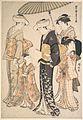 「風俗東之錦」 姫君と侍女四人-High-Ranking Samurai Girl with Four Attendants, from the series A Brocade of Eastern Manners (Fūzoku Azuma no nishiki) MET DP124174.jpg