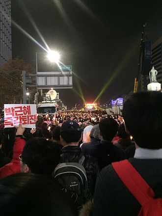 Protest song - This picture is about 4th 'Gather! Rage! Resign Park Geunhye' Demonstration in 2016