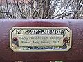 -2019-01-03 Hinsby dedicated bench, All Saints parish church, Mundesley.JPG