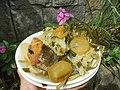 0099Nilagang repolyo, petsay Tagalog, kamote, patatas, kamatis at Pritong Dalag (Bulig) sa tanglad 36.jpg