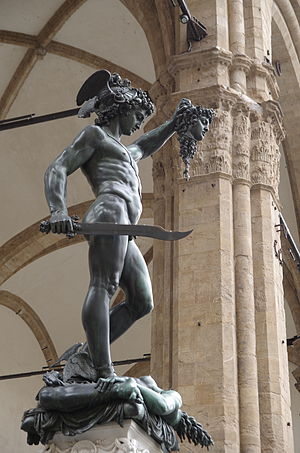 Perseus with the Head of Medusa - Perseus with the Head of Medusa, under Loggia dei Lanzi, Florence