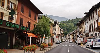 Aiguebelle - The main street in Aiguebelle