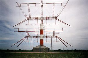 Reflective array antenna - An ALLISS antenna, a modular type of curtain array used by international shortwave stations for broadcasting to distant areas by skywave.