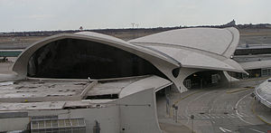 Thin-shell structure - Shell structure of the TWA Flight Center Building by Eero Saarinen, John F. Kennedy International Airport, New York