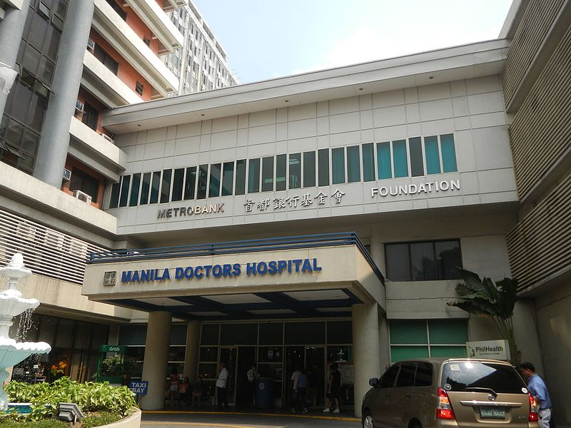 Manila Doctors Hospital, one of the best hospitals in the Philippines.