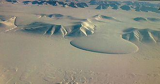 Three-year Expedition to East Greenland - The Elephant Foot Glacier, first mapped by the Three-year Expedition