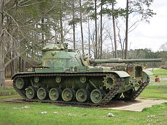 M60 Patton - M60 Patton tank on display in Philadelphia, Mississippi with the gun facing rearward.