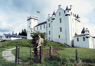 Blair Castle - The 10th Duke outside Blair Castle, by Allan Warren