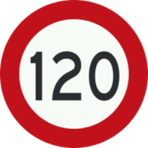 Speed limits in Pakistan - M2 and M1, the speed limit is 120 km/h