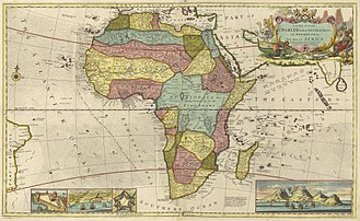Bight of Biafra - Early map of Africa depicting a region named Biafra in present day Cameroon