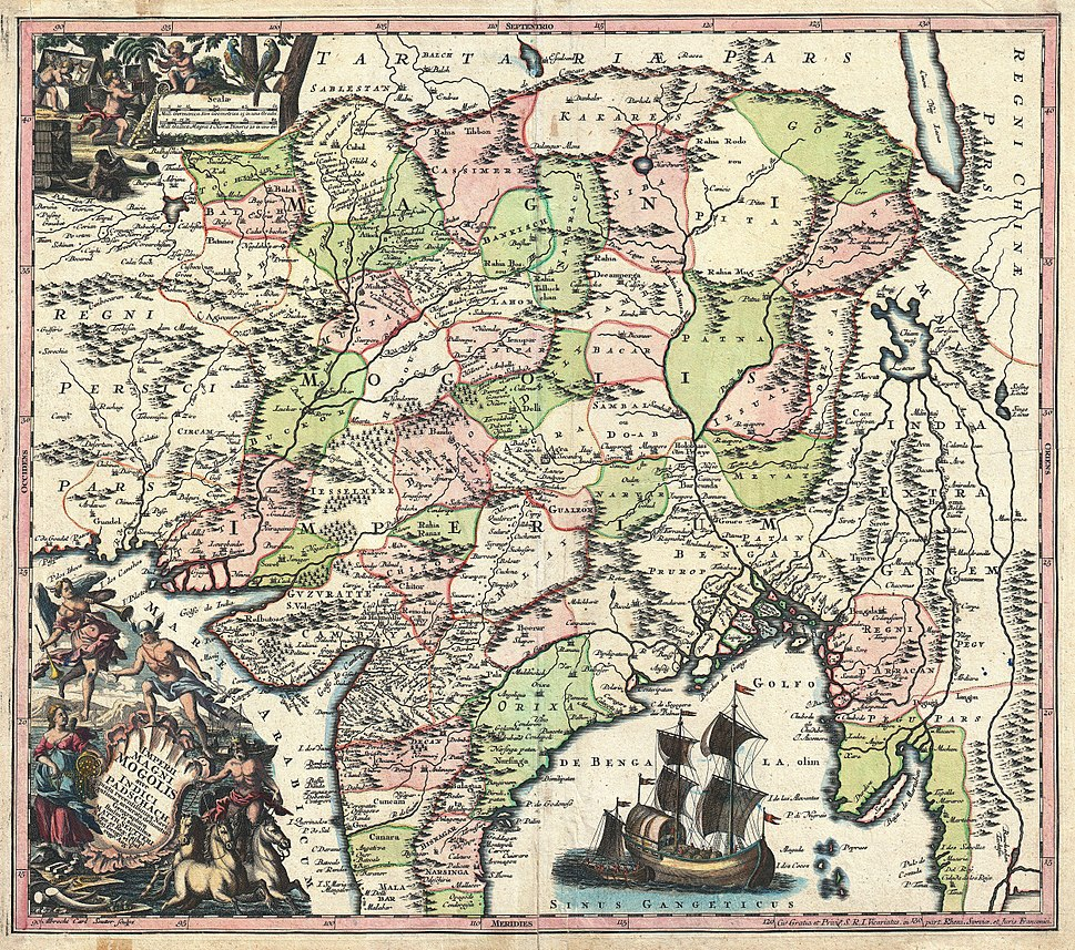 1740 Seutter Map of India, Pakistan, Tibet and Afghanistan - Geographicus - IndiaMogolis-seutter-1740