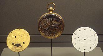 Abraham-Louis Breguet - Breguet watch No. 92 (1785), bought by the Duc de Choiseul-Praslin. Musée des Arts et Métiers.