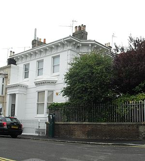 Grade II listed buildings in Brighton and Hove: A–B - Image: 17 and 19 Abbey Road, Brighton (Io E Code 480785)