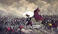 1853, Los mártires de la libertad española, vol I, Batalla de Gandía (cropped).jpg