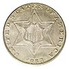 Obverse of 1858 three-cent silver