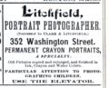 1883 Litchfield photographer advert 352 Washington Street in Boston.png