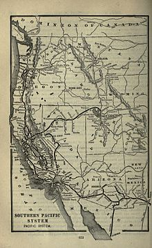 Southern Pacific Company Pacific System In The West 1901