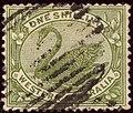 1907ca 1sh olive-green Western Australia oval lines Yv56A SG116.jpg