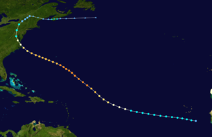 1933 Chesapeake–Potomac hurricane - Image: 1933 Atlantic hurricane 6 track