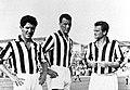 1957–58 Juventus FC - Sívori, Charles and Boniperti.jpg