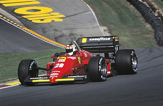 Formula One - Stefan Johansson driving for Ferrari at the 1985 European Grand Prix