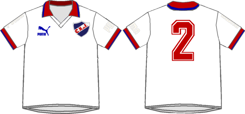 camiseta club nacional de football