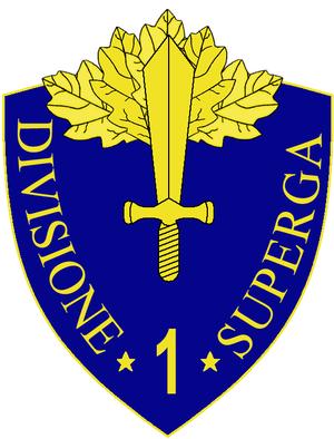 1st Infantry Division Superga - 1st Infantry Division Superga Insignia