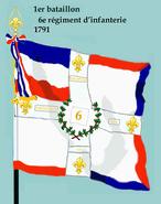 1er bataillon 6e rég inf 1791