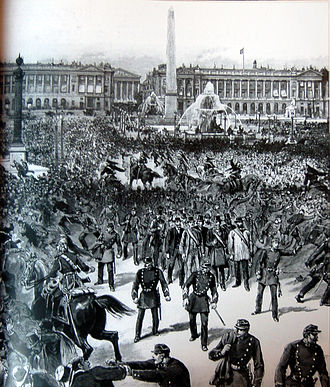 Paris in the Belle Époque - May Day battles between socialist workers and police on the Place de la Concorde (1890)