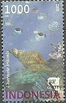 2002 Indonesia stamp Charonia tritonis.jpg