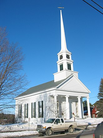 Stowe, Vermont - Image: 2004 02 25 08 Main Street church, Stowe