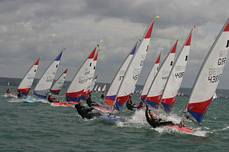 Weymouth and Portland National Sailing Academy - Topper dinghies racing at the 2006 National Championship