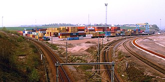 Athus - The container terminal of Athus, as seen from Road N830