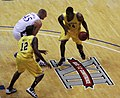 20091219 DeShawn Sims attacks Cole Aldrich.jpg