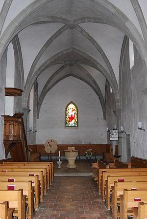 Orpund - Interior of the Gottstatt Monastery church.