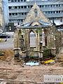 2013 Ausgrabung Alter St. Nikolai-Friedhof Nikolaikapelle Hannover, 62e, Fortführung Baggerarbeiten, Einebnung der Grabungsstelle, historische Wegeführung und Punktfundamente entfernt.jpg