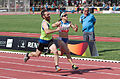 2013 IPC Athletics World Championships - 26072013 - Paraskevi Kantza and Theodoros Katsonopoulos of Greece during the Women's 200m - T11 third semifinal.jpg