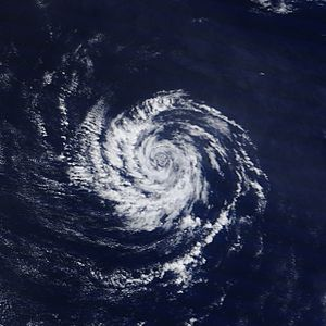 Mesoscale meteorology - A meso-beta scale vortex