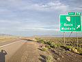 2014-06-10 19 12 35 Sign for Exit 378 along eastbound Interstate 80 and southbound Alternate U.S. Route 93 in Oasis, Nevada.JPG
