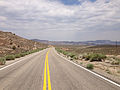 2014-07-17 13 23 05 View east along U.S. Route 6 about 20.5 miles east of the Esmeralda County Line in Nye County, Nevada.JPG