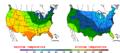 2015-10-18 Color Max-min Temperature Map NOAA.png