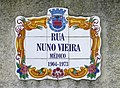 2016 Albufeira, Tile sign, Rua Nuno Vieira 11 November..JPG