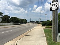 2017-07-12 13 48 54 View north along Virginia State Route 279 (Great Neck Road) at First Colonial Road in Virginia Beach, Virginia.jpg