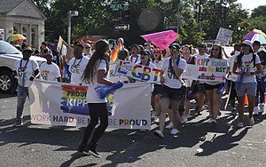 Knowledge Is Power Program - KIPP teachers in 2017 Capital Pride parade.