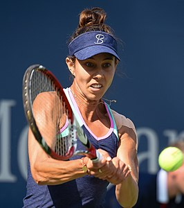 2017 US Open Tennis - Qualifying Rounds - Mihaela Buzarnescu (ROU) (22) def. Grace Min (USA) (36934793841) (cropped).jpg