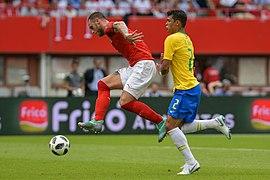 20180610 FIFA Friendly Match Austria vs. Brazil Arnautović Thiago Silva 850 2032.jpg