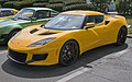2018 Lotus Evora 400 in yellow, front left.jpg