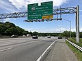2019-05-27 14 57 40 View north along the outer loop of the Capital Beltway (Interstate 95 and Interstate 495) at Exit 20A (Maryland State Route 450 EAST-Annapolis Road, Lanham) in Lanham, Prince Georges County, Maryland.jpg